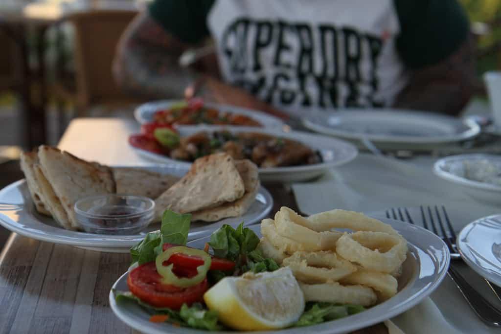 Greek tapas at the pool side taverna Mark Warner Levante