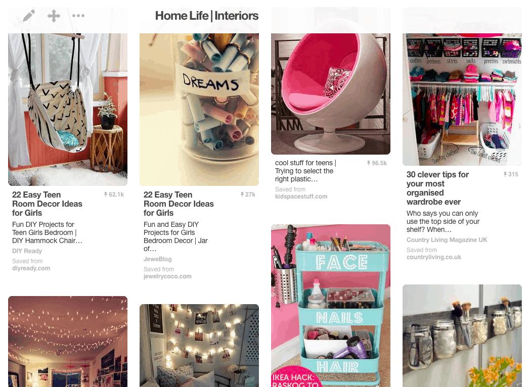 Teen girl's bedroom ideas