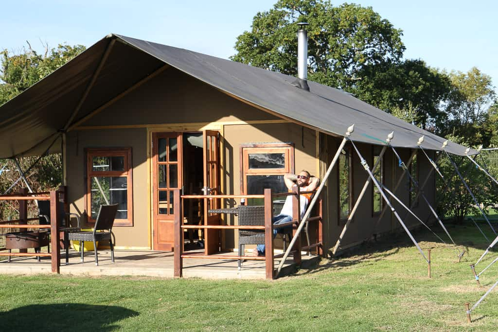 Luxury safari tent at Crealy adventure park