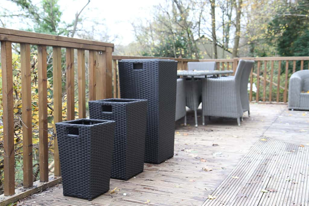 Set of three pots rattan direct