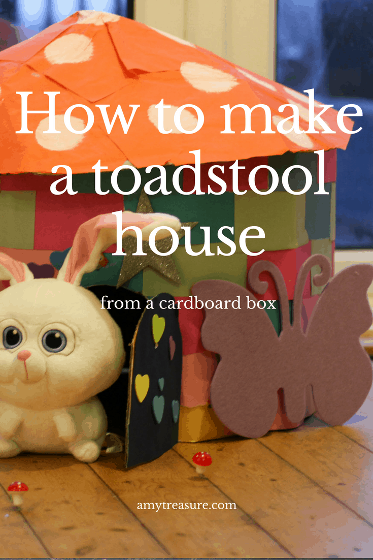 How to make a fairy toadstool house from a cardboard box. Complete with pastel coloured 'bricks' and a dome-shaped roof. Click through to watch the instructional video.