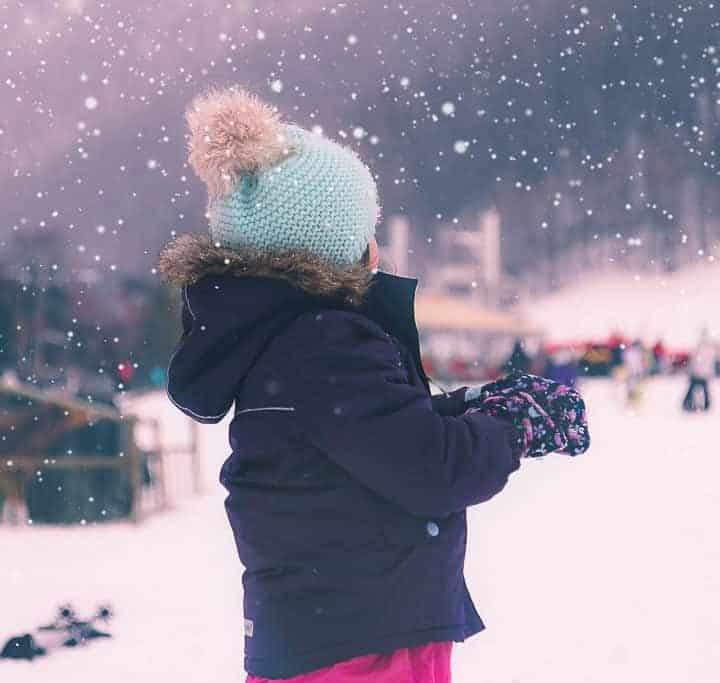 Toddler skiwear essentials: Muddy Puddles Snow flurry ski jacket and snowboots review