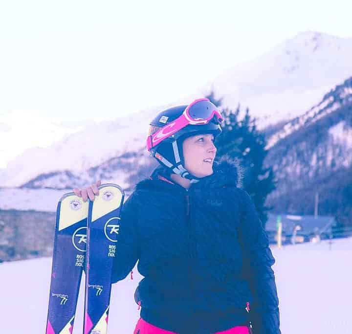 Amy Treasure skiing on a Mark Warner holiday in Val d'Isere