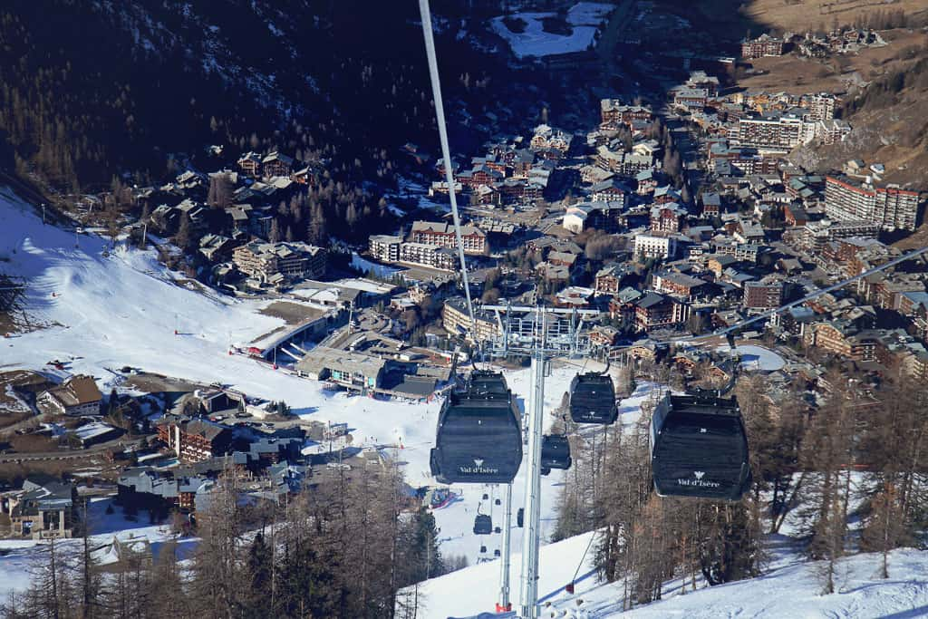 Cable car ride Solaise Val d'Isere
