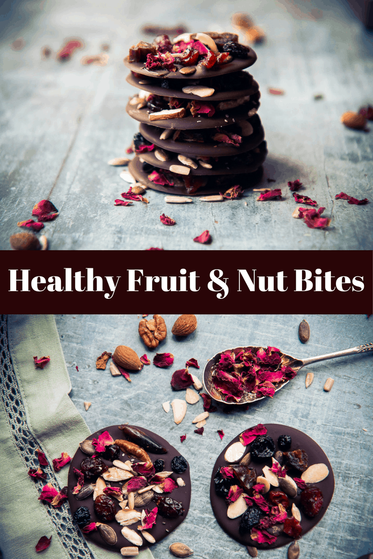 Healthy homemade dark chocolate fruit and nut thins. The perfect snack to satisfy a chocolate craving using detoxing and mineral rich dark chocolate, fruits, nuts and seeds chosen specifically for health benefits and encourage a healthy attitude towards snacking.