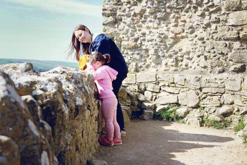 Corfe Castle ruins Dorset