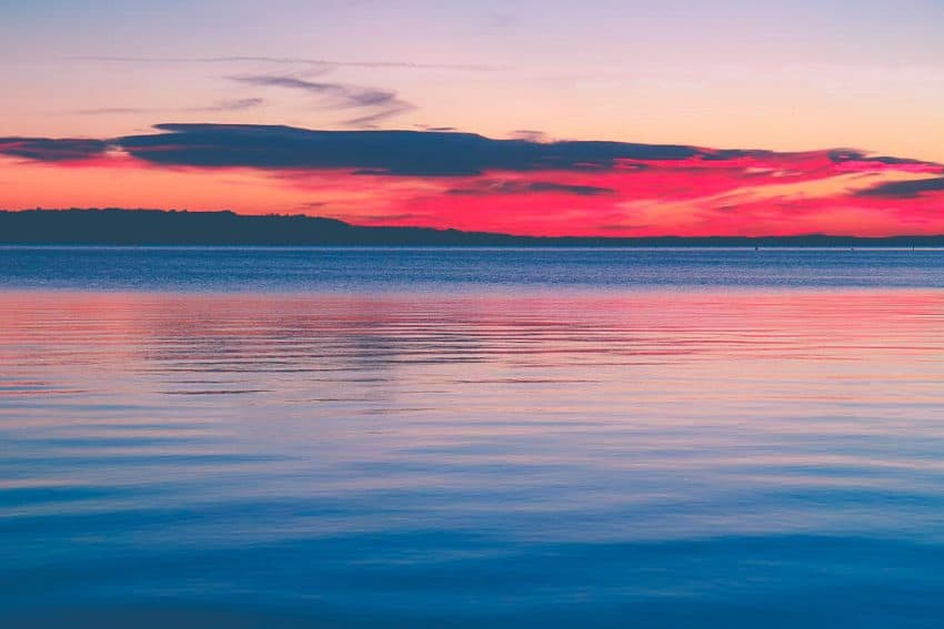 Sunset at Sandbanks in Poole Dorset