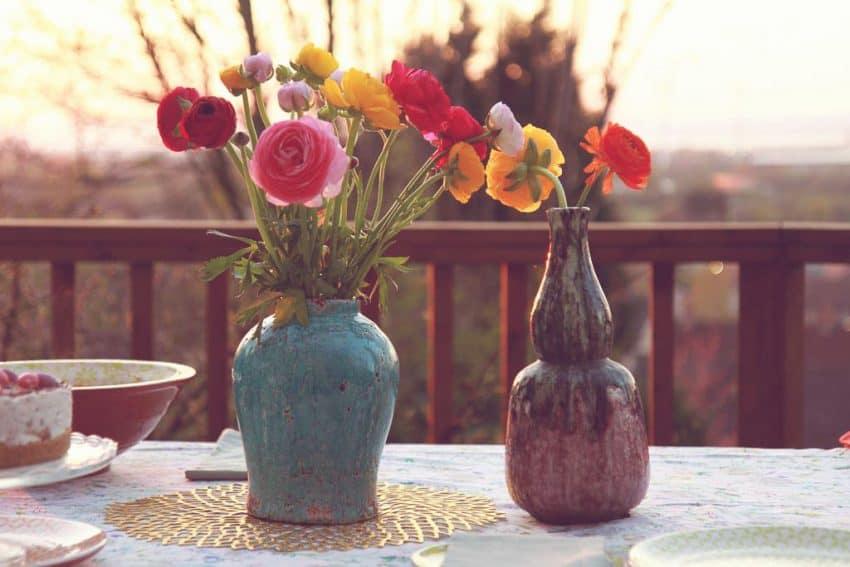Amara terracota glazed vases