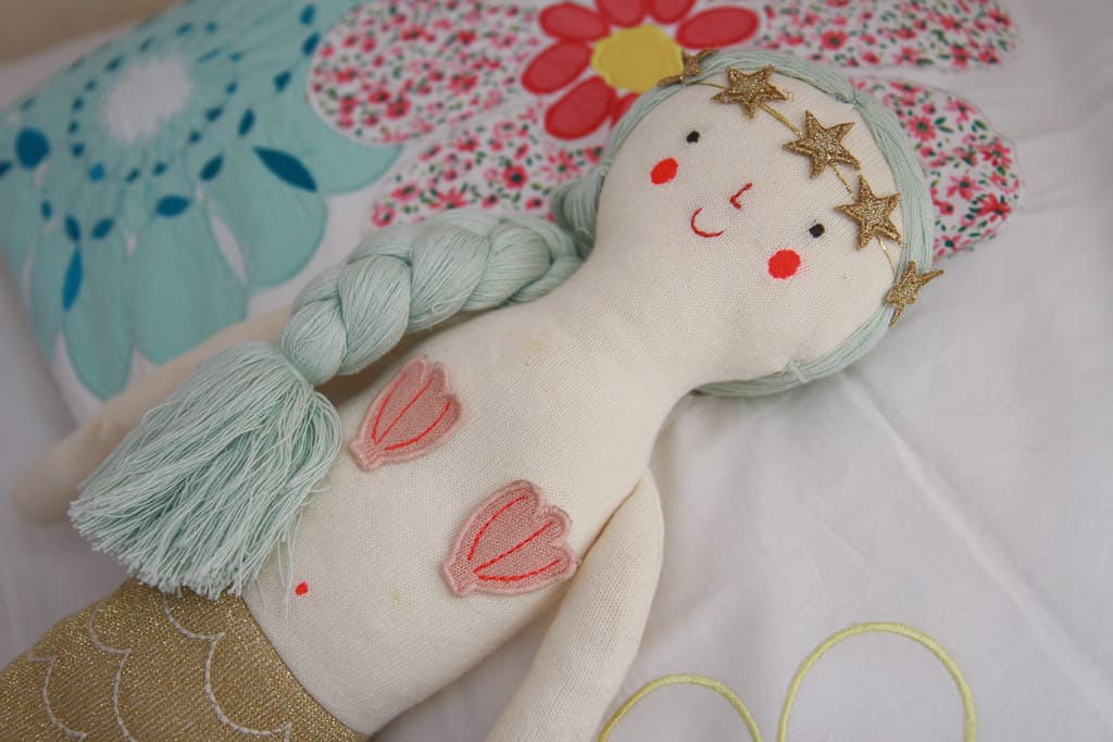 sparkly mermaid doll from Little Baby Company
