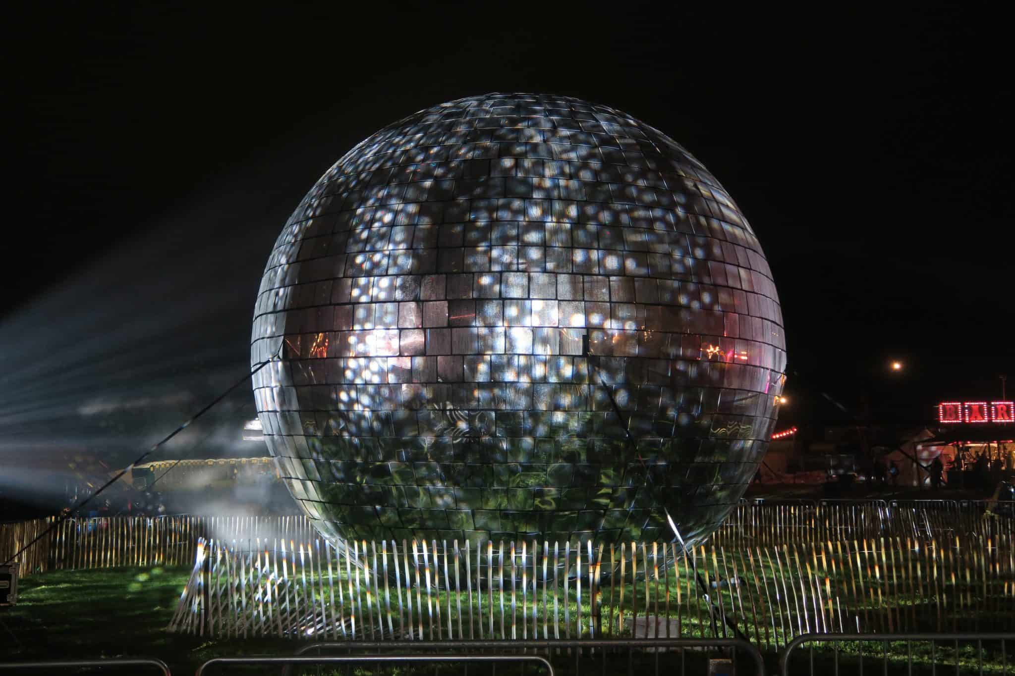 World's largest disco ball Camp Bestival 2017