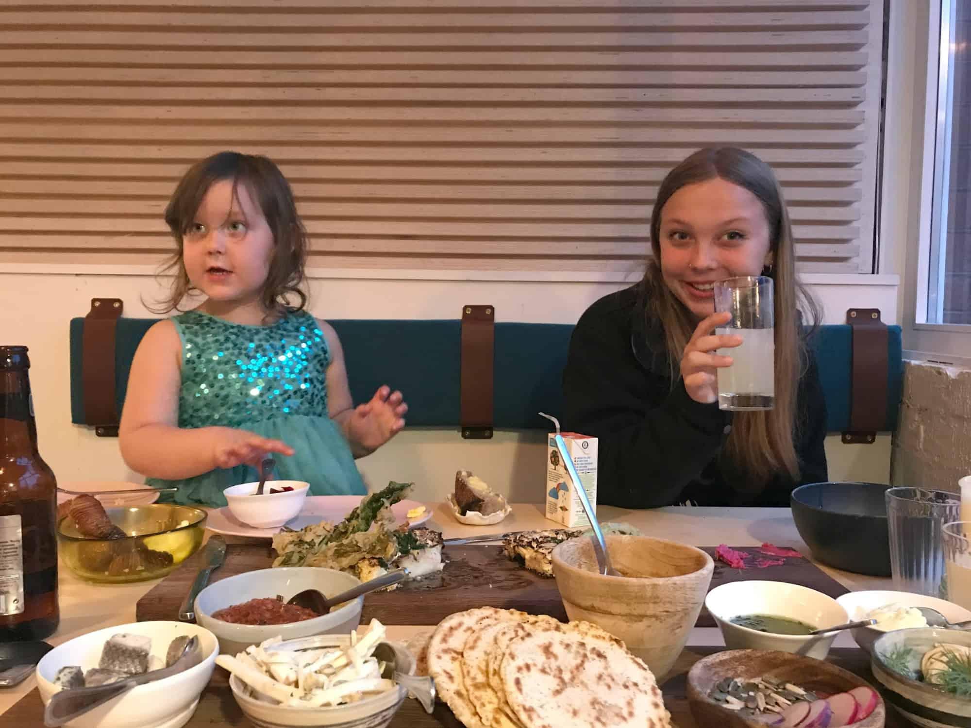Enjoying a meal in Dela, Bristol