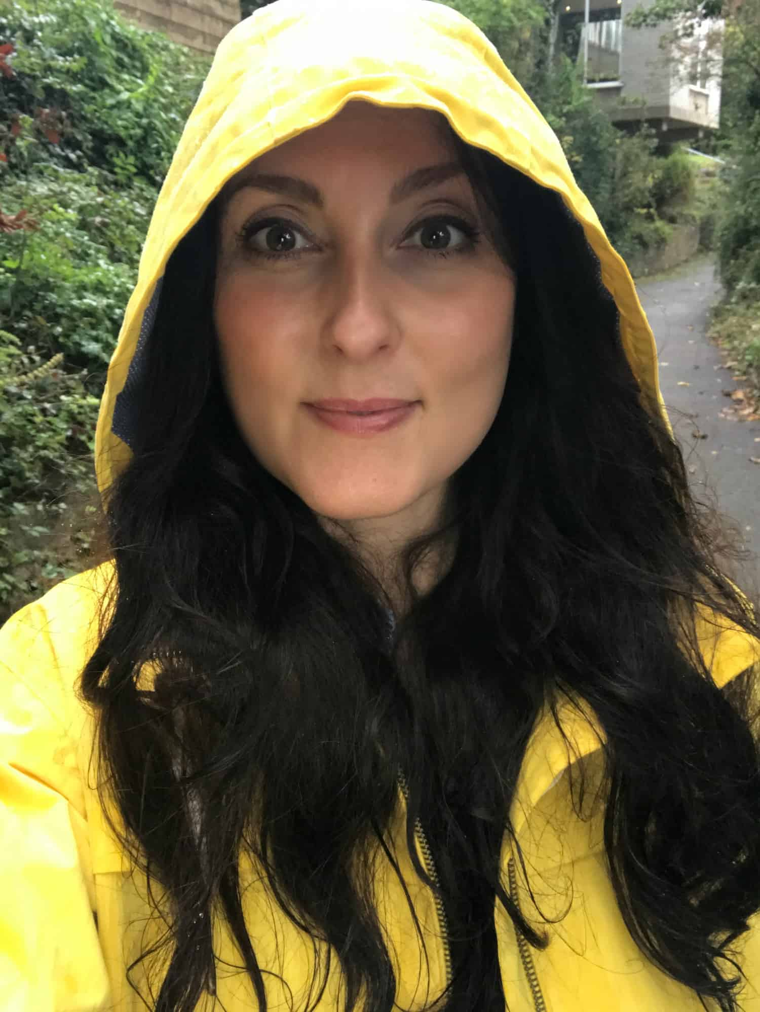 Lighthouse yellow raincoat