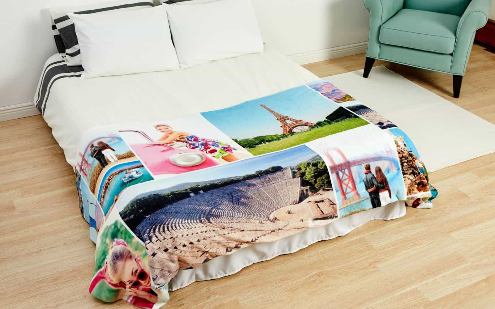 printed photo blanket from Collage.Com