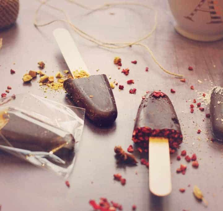 Homemade gifts: Dark hot chocolate stirrers