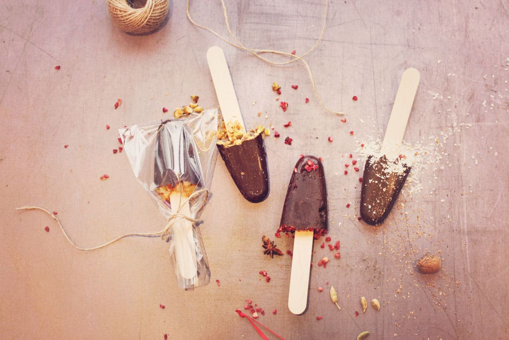 dark hot chocolate stirrers