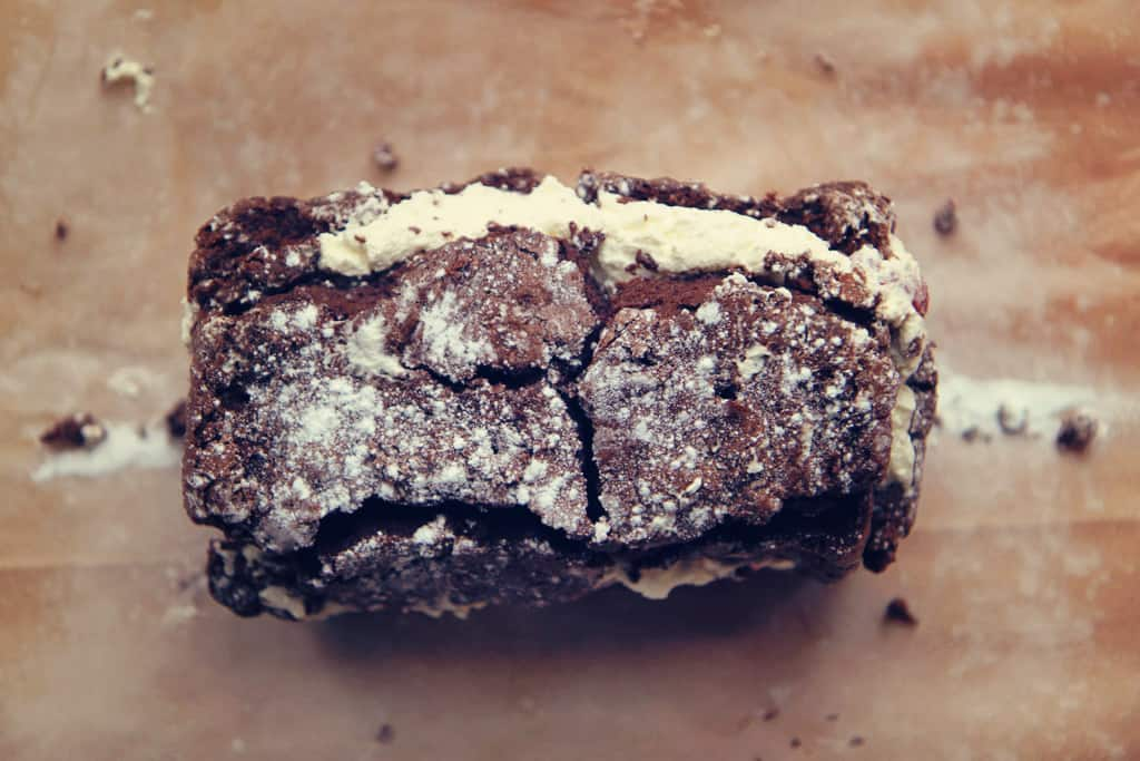 A chocolate roulade