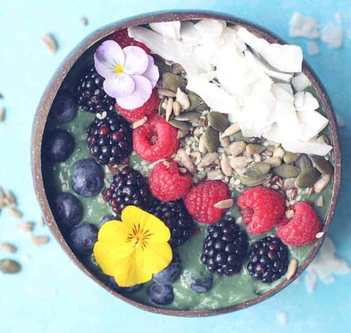 Seriously Healthy Green Smoothie Bowl