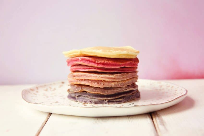 Ombré berry pancake stack