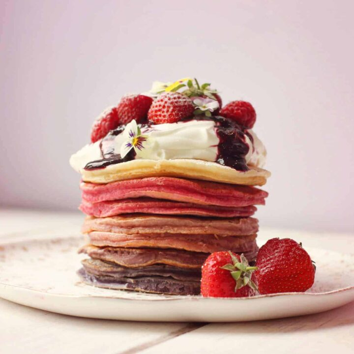 Ombre berry pancake stack