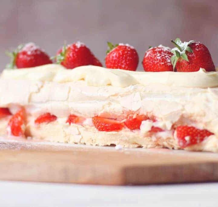 Eton Mess Meringue Roulade with a Whipped Yoghurt and Cream Filling