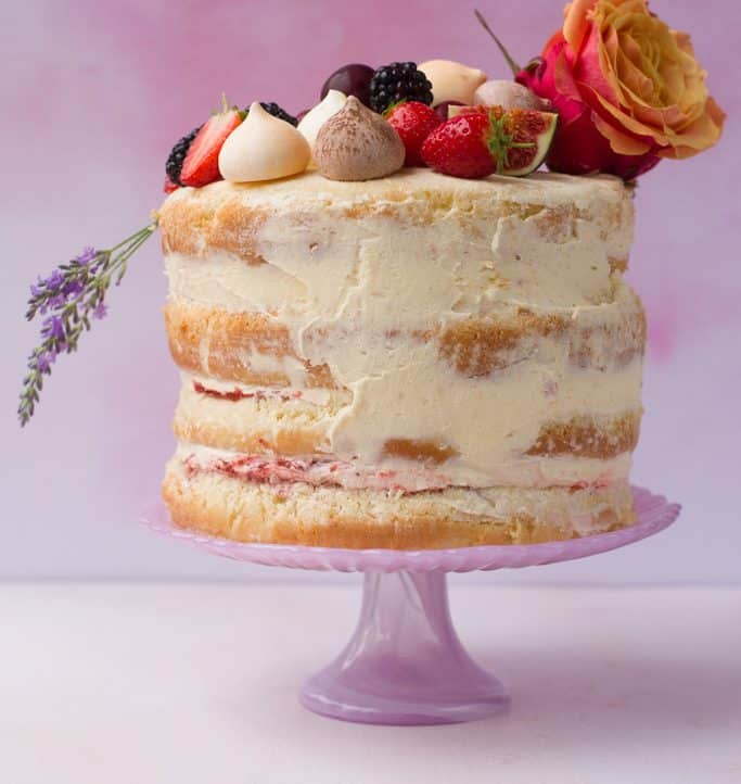 Vanilla Naked Cake – No Baking Skills Required!