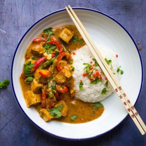 Tofu Satay with sticky rice