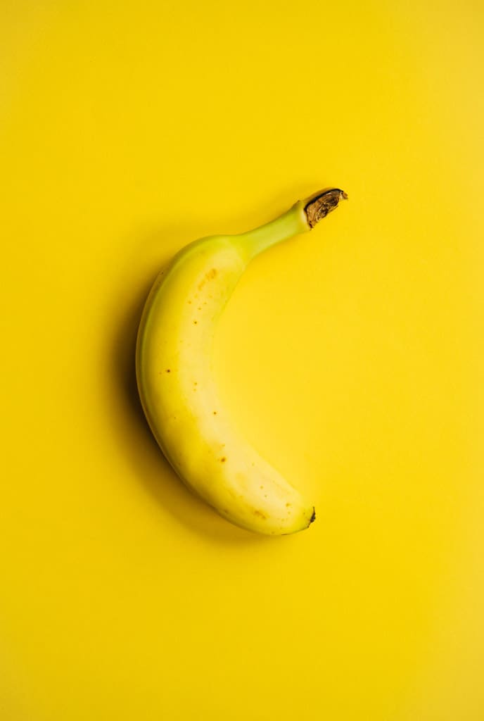 Banana on a yellow background
