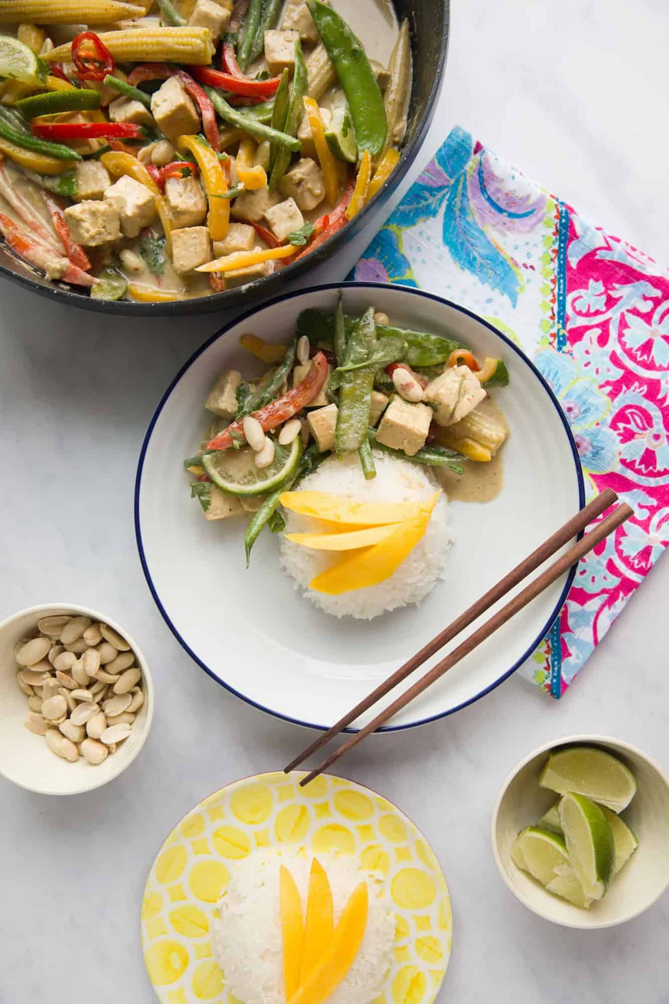 Overhead shot of Thai Green Curry