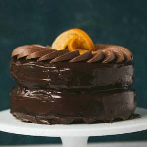 A chocolate orange cake