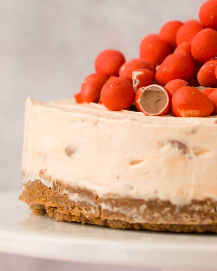 Mini egg cheesecake on a white platter.