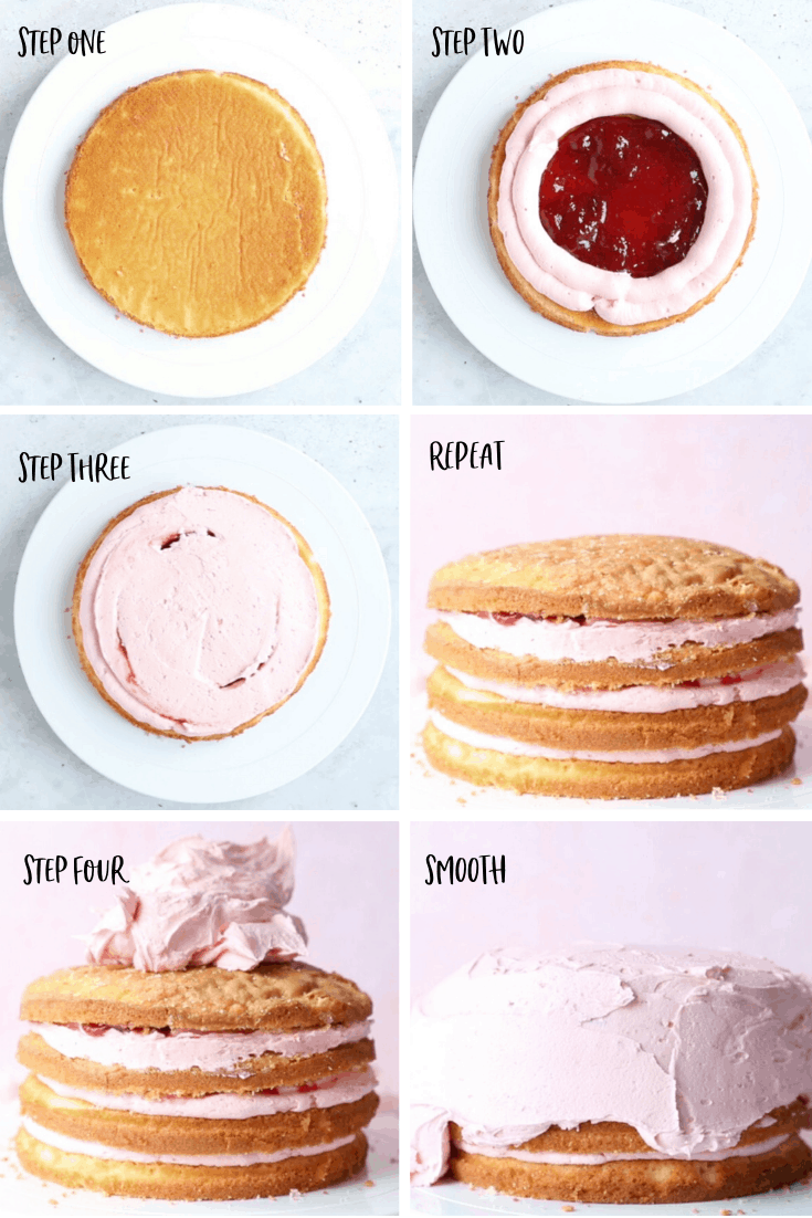 Step by step - how to frost a layer cake.