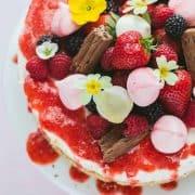 Eton Mess Cheesecake toppings.