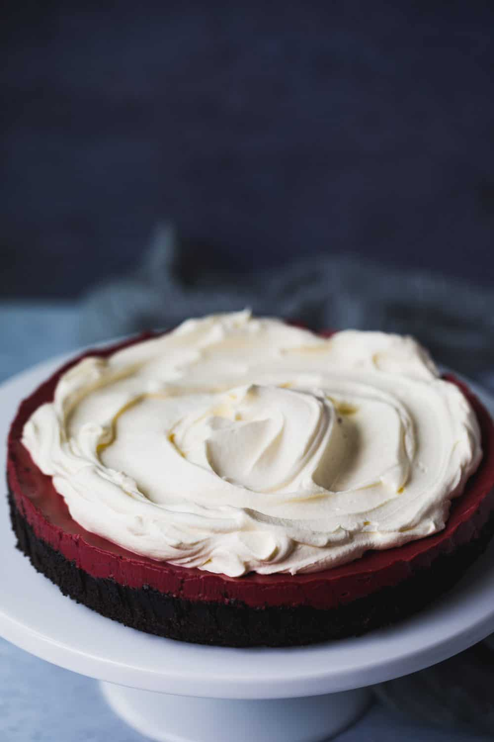 No bake red velvet cheesecake.