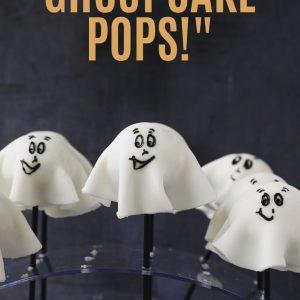 Pinterest image for Ghost Cake Pops.