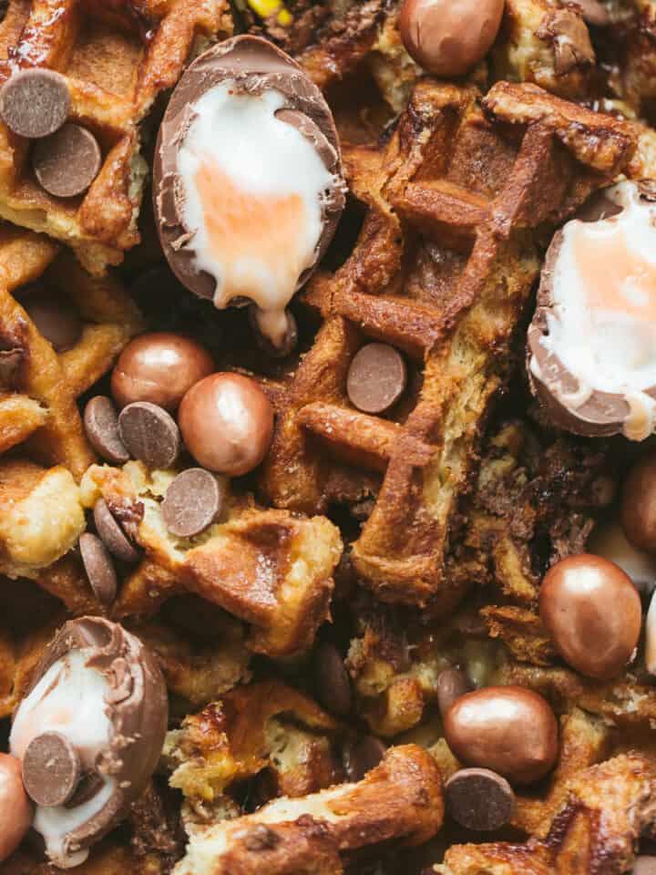 Easter Breakfast Waffles.